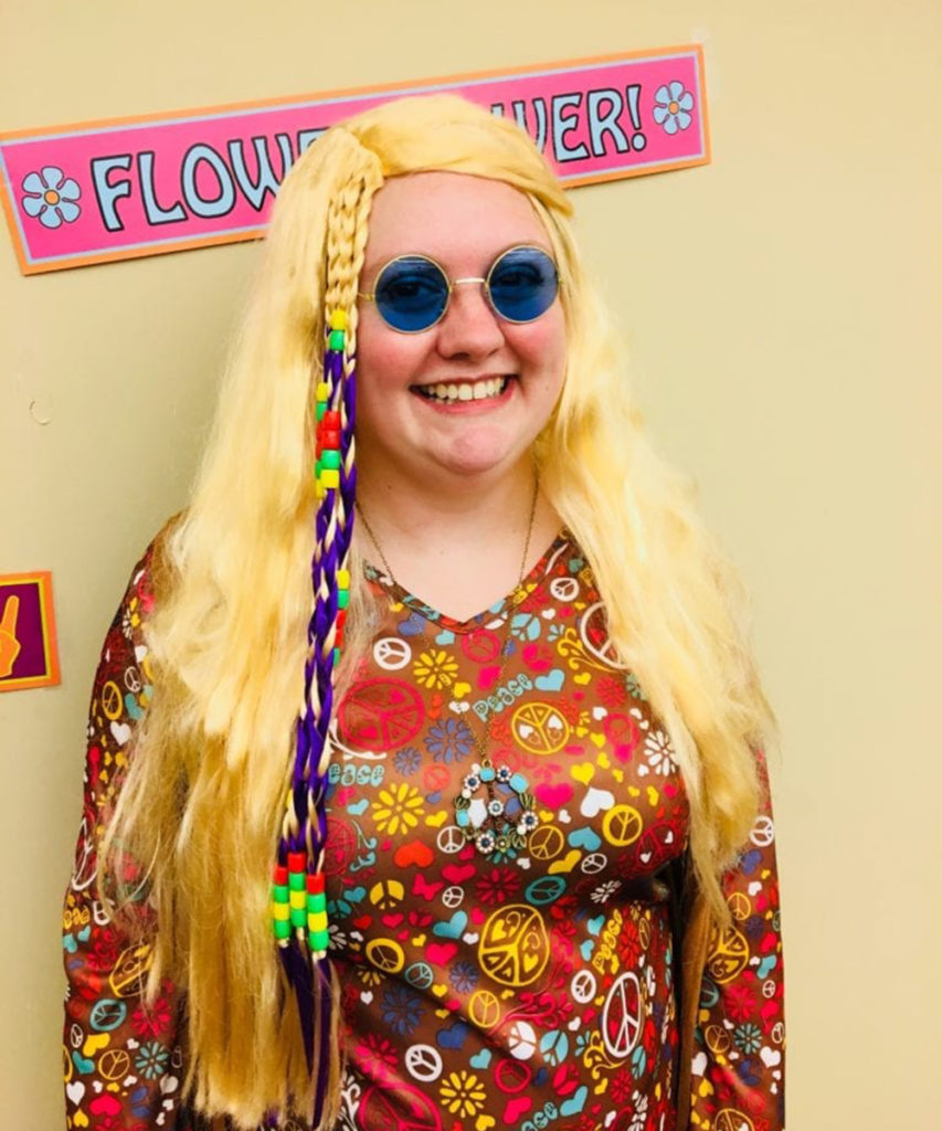 Bethany looks like she's ready to go to Woodstock!